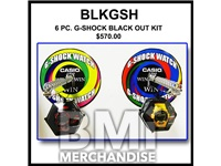 6PC G-SHOCK WATCHES FOR BLACK OUT