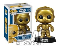 STAR WARS C3P0 POP VINYL BOBBLE HEAD - STRAPPED