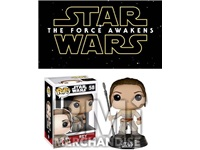 STAR WARS EP7 REY POP BOBBLEHEAD - STRAPPED
