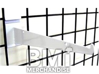 12IN GRID WALL SHELF BRACKET - WHITE